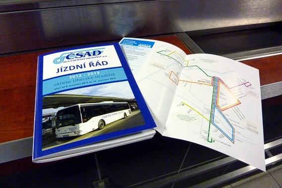 Brožurka s jízdními řády 2013